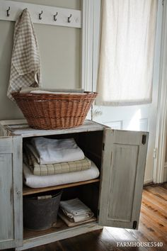 FARMHOUSE 5540: My New White Cupboard - An Ebay Find