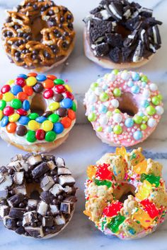 Elevating Store-bought Donuts - I Dream of Doughnuts - Desserts Mini Donuts, Cute Donuts, Dunkin Donuts, Doughnuts, Baked Donuts, Doughnut Shop, Donut Bar, Donut Store, Delicious Donuts