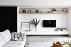 Love all of the simplicity of black and white interiors and exteriors. We used this concept on our recent remodel of our own home. It makes all of the greener