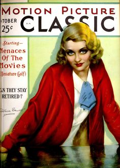 Constance Bennett on the cover of Motion Picture Classic magazine October 1930