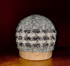 This unisex hat glows in the dark due to the reflective fiber that was carried along with the yarn in the basket-weave section. Basket Weaving, The Darkest, Weave, Fiber, Challenge, Unisex, Hats, Design, Hat