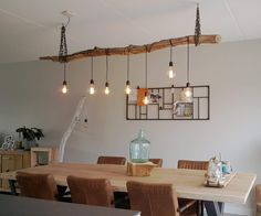 Farmhouse Lighting, Rustic Lighting, Home Lighting, Rustic Home Design, Decor Interior Design, Interior Decorating, Driftwood Chandelier, Wall Design, House Design