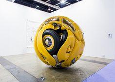 VW Beetle as a Sphere and Cube by Ichwan Noor at Hong Kong Art Basel 2013 Art Basel Hong Kong, Hong Kong Art, Sculpture Art, Sculptures, Modern Sculpture, Volkswagen New Beetle, Wow Art, Weird Art, Vw Beetles