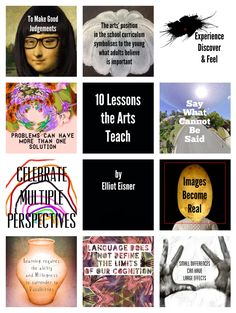 Just a little visual reminder of the great Lessons the Arts Teach' from Elliot Eisner. Inspirational stuff for art teachers. Middle School Art, Art School, School Stuff, Art Room Posters, Importance Of Art, Art Worksheets, Art Classroom, Classroom Organization, Classroom Ideas