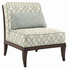 St. Tropez Montaigne Armless Tight Back Chair by Lexington Home Brands - Baer's Furniture - Upholstered Chair Miami, Ft. Lauderdale, Orlando, Sarasota, Naples, Ft. Myers, Florida