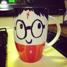 Buy a porcelain mug at the dollar store & decorate it with Sharpies. Put in oven at 350 for 30 minutes & you're good to go!
