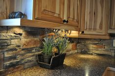 M-Rock Stone Gallery of Inspiration  no more boring back splashes! so warm and inviting