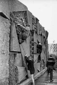 "scavengedluxury: ""Climbing wall by William George Mitchell. Hockley Flyover, Birmingham, 1960s. """