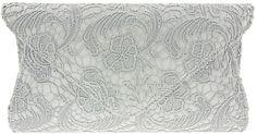 Gorgeous UKFS Classic Designer Lace Envelope Bridal Clutch Bag purse. Suitable for weddings, Evenings and formals!