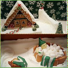 2015 Ultimate Gingerbread Holiday Gingerbread Photo Contest - RESULTS - altinn Homemade Gingerbread House, Graham Cracker Gingerbread House, Cool Gingerbread Houses, Gingerbread House Designs, Gingerbread House Parties, Gingerbread Village, Christmas Gingerbread House, Christmas Sweets, Christmas Goodies