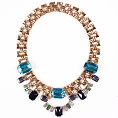 Elegant Alloy Exaggeration Choker Necklace Inlaid Drill Women Ladies Jewelry Necklace