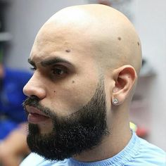 shaved bald bearded