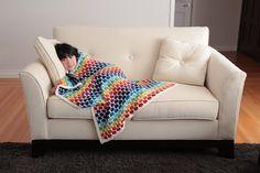 Rainbow Blanket - Modified Honeycomb Honeycomb, Rainbow, Couch, Dolls, Blanket, Design, Home Decor, Rain Bow, Baby Dolls