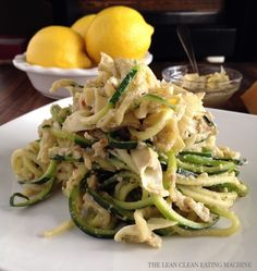 Lemon Artichoke Pesto with Zucchini Noodles – The Lean Clean...