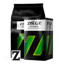 Zoegas Skånerost -- Coffee the way we like it in Skåne Caffeine, Beverages, Tea, Black, Black People, Teas