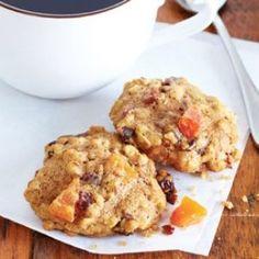 Biscuits gruau et fruits -----Excellent biscuit hummmm Oatmeal Breakfast Cookies, Breakfast Cookie Recipe, Cookie Recipes, Breakfast Recipes, Breakfast Ideas, Peanut Butter Cup Cookies, Caramel Cookies, Chocolate Chunk Cookies, Sugar Cookies