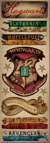 £0.99 Hogwarts Harry Potter cardstock stickers www.scrappingthemagic.co.uk great for all your Harry Potter Studio Tour or Wizarding World of Harry Potter Scrapbooking Layouts