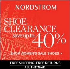 Enjoy up to 40% OFF at the Nordstrom Shoe Sale! So many great styles ranging from sandals to boots! See categories to the left! Click through for details. Ends 9/2!