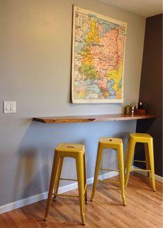 Image result for floating shelf breakfast bar
