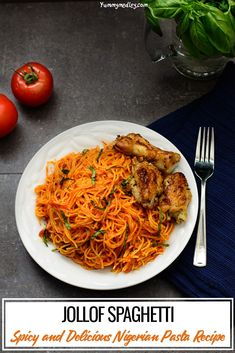 Jollof Spaghetti: Easy, Classy and Delicious! Ghanaian Food, Nigerian Food, Top Recipes, Mexican Food Recipes, Ethnic Recipes, African Recipes, Indian Recipes, Recipies, Noodle Recipes