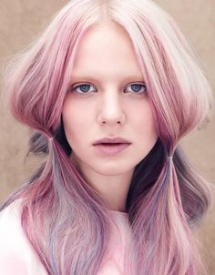 Pastel mermaid hair