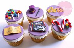 Willy Wonka cupcake toppers