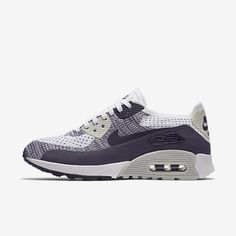 online store c6c0a 1a1ad Chaussure Nike Air Max 90 Pas Cher Femme Ultra 2 0 Flyknit Blanc Violet  Dynastie Beige Clair Raisin Sec Fonce