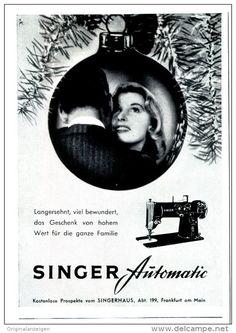 Original-Werbung/Anzeige 1959 - SINGER AUTOMATIC NÄHMASCHINE - ca. 75 x 110 mm