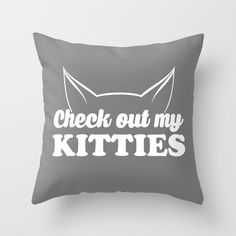 Check out my kitties Throw Pillow #cat #kitty