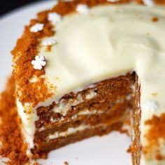 Carrot cake with xmas twist Christmas Deserts, Christmas Baking, Baking Recipes, Cake Recipes, Dessert Recipes, Yummy Drinks, Yummy Food, Recipes From Heaven, Sweet And Salty