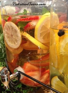 Citrus Strawberry Flush | Get rid of Bloat & Stomach Discomfort | Hydrate & Help the Body Neutralize Toxins | For MORE Nutrition & Fitness Tips, & RECIPES please SIGN UP for our FREE NEWSLETTER www.NutritionTwins.com