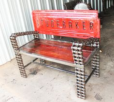 Truck Tailgate Benches on Pinterest by Recycled Salvage Design