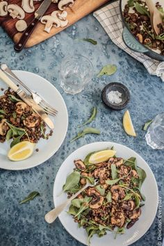 This vegan, gluten-free Mushroom and Lentil Salad is a healthy, light and easy salad that's perfect to bring along to your next BBQ or picnic. #vegan #vegetarian #glutenfree #mushrooms #lentils Easy Salads, Easy Healthy Dinners, Vegan Dinners, Heart Healthy Recipes, Whole Food Recipes, Cooking Recipes, Vegan Vegetarian, Vegetarian Recipes, Vegan Food