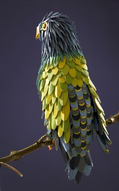 A Leather Parrot - Hermès by Zim And Zou , via Behance
