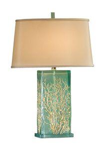 aqua translucent beach decor lamps