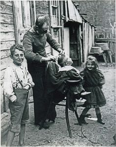 Haircut Day c.1910 by Blue Mountains Library - Local Studies, via Flickr