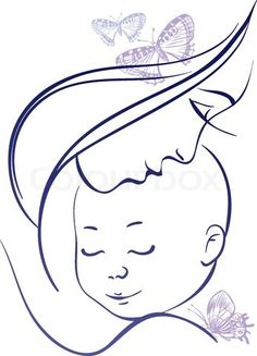 Vector of 'Mother and baby'