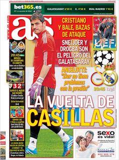 Los Titulares y Portadas de Noticias Destacadas Españolas del 17 de Septiembre de 2013 del Diario AS ¿Que le pareció esta Portada de este Diario Español?