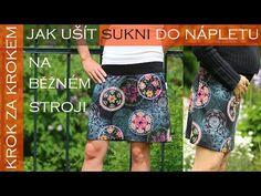 Sukně do nápletu (Foto / video návod a střih) – Caramilla.cz Dress Skirt, Sequin Skirt, Sequins, Skirts, Youtube, Model, Dresses, Fashion, Hipster Stuff