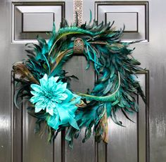 Peacock Feather Wreath  Summer Wreath  Wreaths by OurSentiments, $60.00