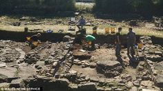 Mr Wilson - who had to live with his parents to afford the field - says he has no regrets about his bizarre purchase. Volunteers are pictured working on the site during excavation