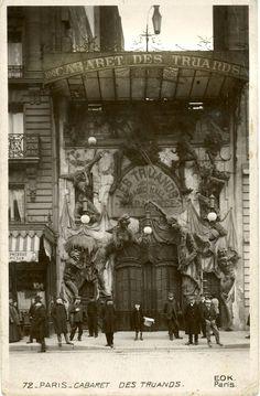 « LA TAVERNE DES TRUANDS », 100, BOULEVARD DE CLICHY. (1910). Paris.