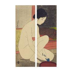Japanese Woman After Bath #vintage #art #japan #japanese #wrappedcanvas #canvas #home #style #decor #panels