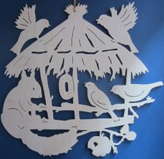 Paper Crafts Origami, Paper Embroidery, Scroll Saw Patterns, Diy Christmas Ornaments, Kirigami, Paper Cutting, Wood Art, Diy And Crafts, Baba Marta