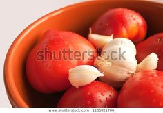 Find Tomato Garlic Inside Clay Pot stock images in HD and millions of other royalty-free stock photos, illustrations and vectors in the Shutterstock collection. Thousands of new, high-quality pictures added every day. Clay Pots, Vectors, Garlic, Photo Editing, Royalty Free Stock Photos, Illustrations, Fruit, Pictures, Photography