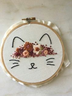 Raining Flowers Hand Embroider
