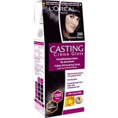 L'Oreal Paris Casting Creme Gloss Hair Color Small Pack 200 Ebony Black *** Visit the image link more details. (This is an Amazon affiliate link)