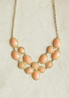 Peach luxury necklace