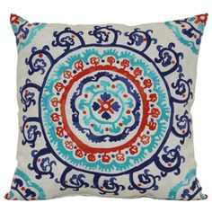 Shop Garden Treasures White Global Medallion Knife Edge Pillow at Lowe's Canada. Find our selection of patio cushions at the lowest price guaranteed with price match. Patio Furniture Cushions, Red Cushions, Patio Cushions, Outdoor Furniture, Cuban Decor, Red Color Schemes, Deck Decorating, Colorful Furniture, Blue Accents