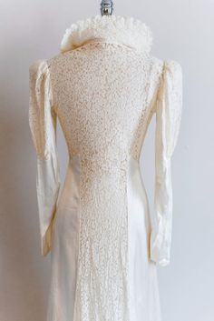 1930s Art Deco Silk Crepe De Chine Wedding by EmmelineChic on Etsy, $439.00